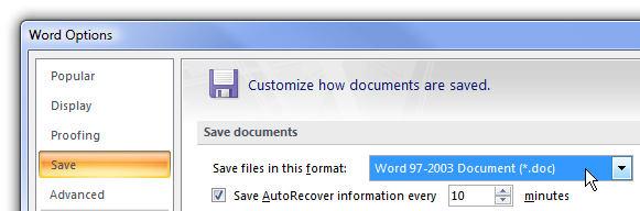 MSOffice Options
