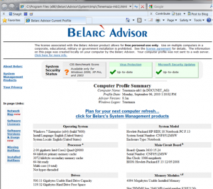 Belarc Report