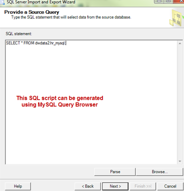 MSSQL Import