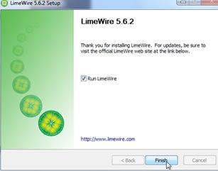 Install LimeWire