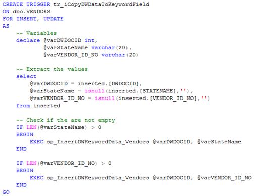 MSSQL Trigger Sample